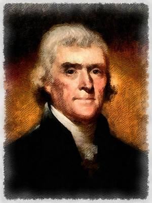 Politicians Royalty-Free and Rights-Managed Images - President Thomas Jefferson by John Springfield