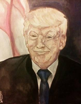 Painting - President Trump #2 by Raymond Doward