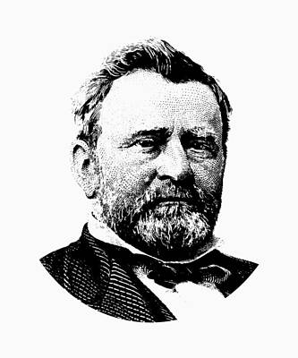 Digital Art - President Ulysses Grant Graphic by War Is Hell Store