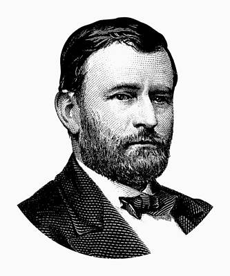 President Ulysses S. Grant Graphic White Art Print by War Is Hell Store