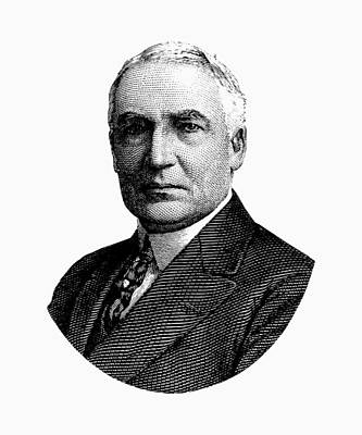 Presidential Mixed Media - President Warren G. Harding Graphic by War Is Hell Store