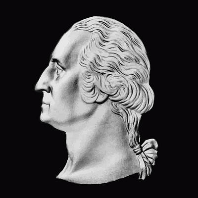 War Hero Digital Art - President Washington Bust  by War Is Hell Store