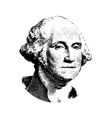War Hero Digital Art - President Washington by War Is Hell Store