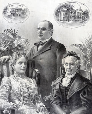 President William Mckinley And Family Art Print by International  Images