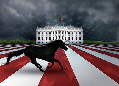 Digital Art - Presidential Dark Horse by James Larkin