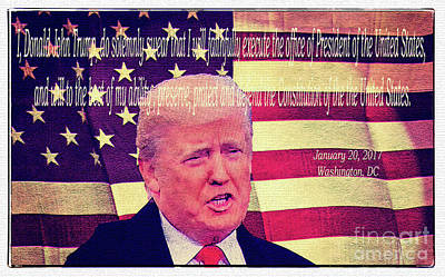Photograph - Presidential Oath by Bob Hislop