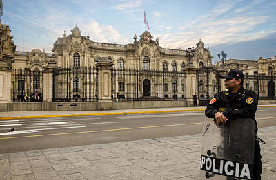 Photograph - Presidential Palace In Lima by Kathryn McBride