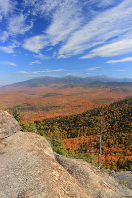 Photograph - Presidential Range Fall Foliage From Cherry Mountain by John Burk