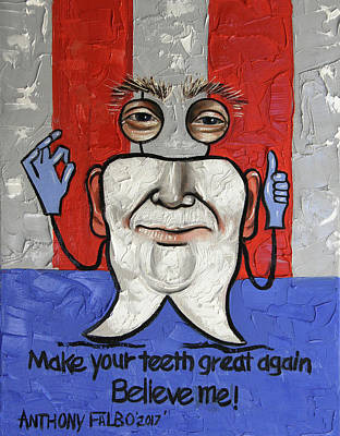 Painting - Presidential Tooth 2 by Anthony Falbo