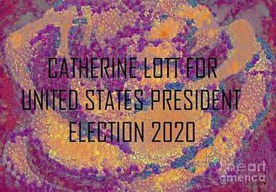 Painting - Presidentialelectioncandidate2020 by Catherine Lott
