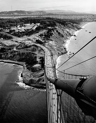 Photograph - Presidio And San Francisco From Golden Gate Bridge by Daniel Hagerman
