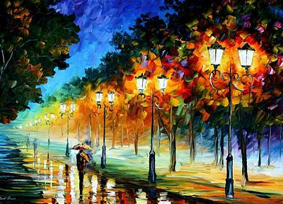 Prespective Of The Night Art Print by Leonid Afremov