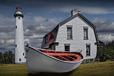 Photograph - Presque Isle Light Station On Lake Huron by Randall Nyhof