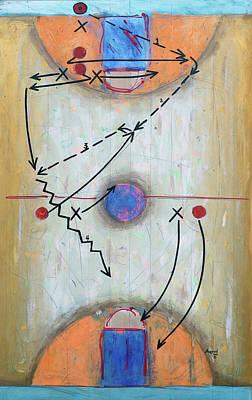 Basketball Abstract Painting - Press Breaker by John Sheppard