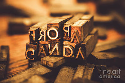 Words Background Photograph - Press Of Propaganda by Jorgo Photography - Wall Art Gallery