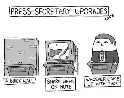 Drawing - Press-secretary Upgrades by Lars Kenseth