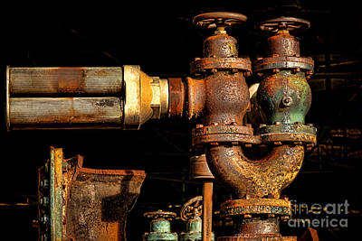 Photograph - Pressure Relief Valves by Olivier Le Queinec