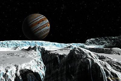 Digital Art - Pressure Ridge On Europa by David Robinson