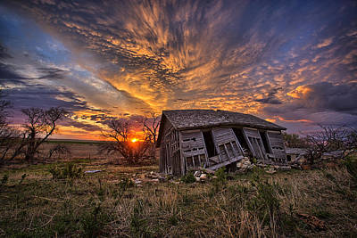 Abandoned Ranch Photograph - Prestige by Thomas Zimmerman