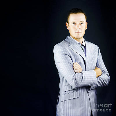 Pinstripes Photograph - Prestigious Influential Young Business Man by Jorgo Photography - Wall Art Gallery