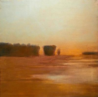 Preston After Spring Rain Creek Flood Art Print