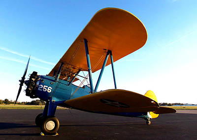 Biplane Photograph - Preston Aviations Boeing Stearman 000 by Chris Mercer