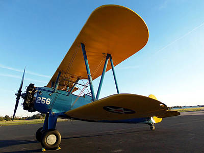 Airplane Photograph - Preston Aviations Boeing Stearman 001  by Chris Mercer