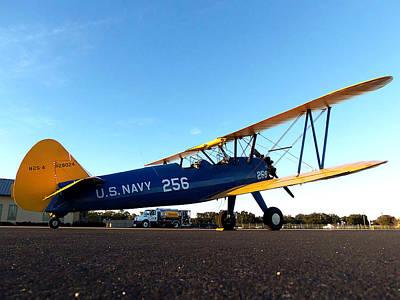 Biplane Photograph - Preston Aviations Boeing Stearman by Chris Mercer