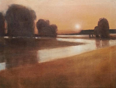 Preston Creek Flood Art Print