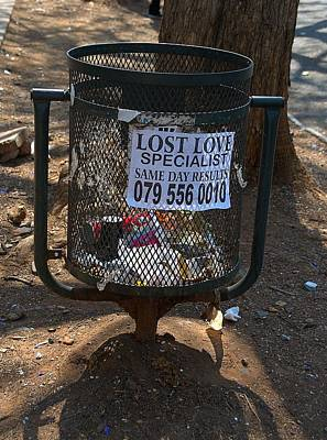 Photograph - Pretoria Lost Love Specialist by Steven Richman