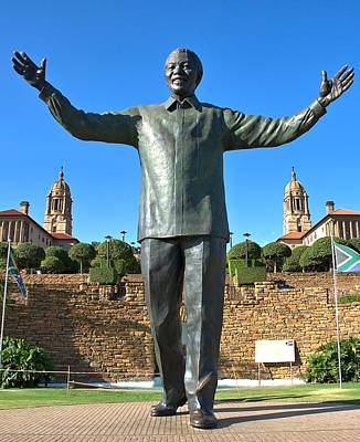 Photograph - Pretoria Union Houses And Mandela by Steven Richman