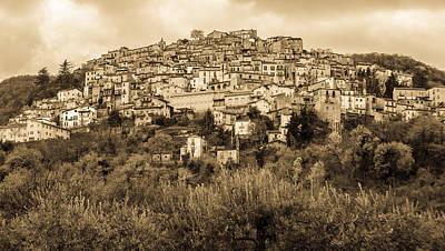Photograph - Pretoro - Landscape In Sepia Tones  by Andrea Mazzocchetti