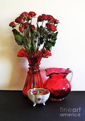 Bowl Of Flowers Photograph - Pretties Glass Decor by Marsha Heiken