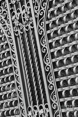 Photograph - Pretty And Strong Spanish Gate - Black And White by Carol Groenen