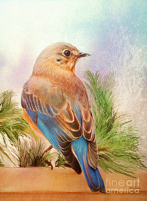 Bluebird Digital Art - Pretty As A Princess by Tina LeCour