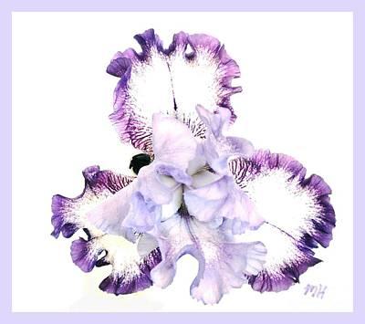 Shower Digital Art - Pretty Baby Iris by Marsha Heiken
