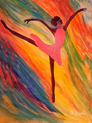 Painting - Pretty Ballerina by Anne Sands