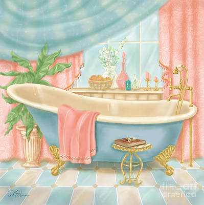 Mixed Media - Pretty Bathrooms I by Shari Warren