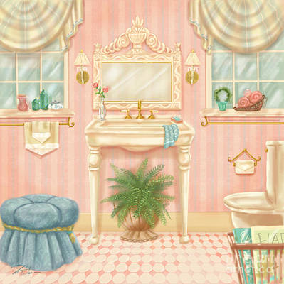 Mixed Media - Pretty Bathrooms IIi by Shari Warren