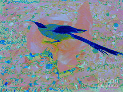 Mixed Media - Pretty Bird by Nancy Kane Chapman