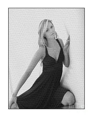 Photograph - Pretty Blonde In Studio by Michael Edwards