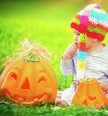 Photograph - Pretty Child Celebrating Halloween by Anna Om