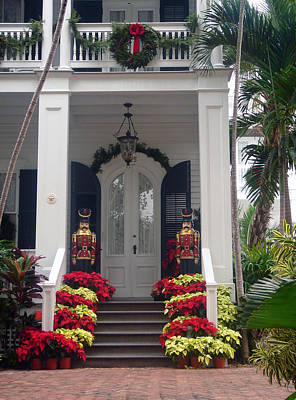 Pretty Christmas Decoration In Key West Art Print by Susanne Van Hulst
