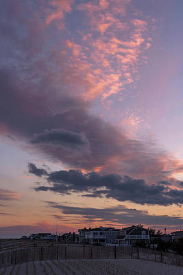 Photograph - Pretty Clouds Long Beach Island Nj by Terry DeLuco