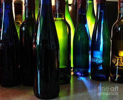 Photograph - Pretty Colored Bottles 2016 by Padre Art