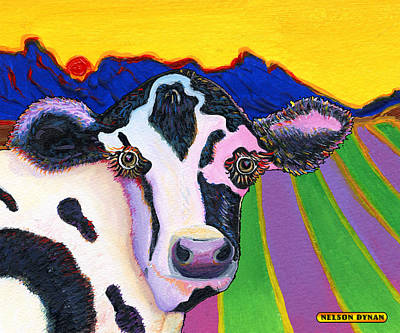 Painting - Pretty Cow by Nelson Dynan