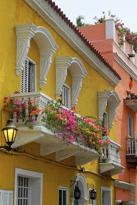 Pretty Dwellings In Old-town Cartagena Art Print