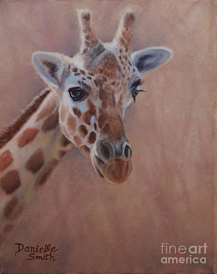 Danielle Smith Painting - Pretty Eyes - Giraffe by Danielle Smith