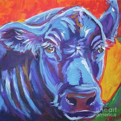 Pretty Face Cow Art Print by Jenn Cunningham