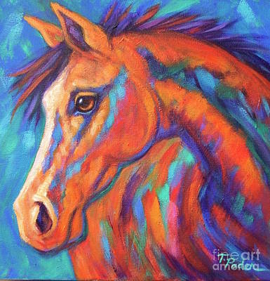 Theresa Paden Painting - Pretty Filly by Theresa Paden